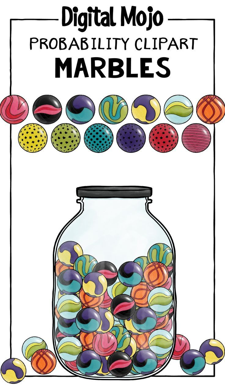 This Clipart For Teachers Is A Patterned Marble Clip Art Set That Can Be Used To Create Probability Math Resources It C Clip Art Math Clipart Probability Math