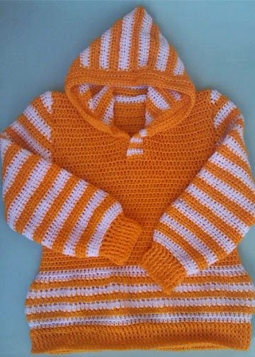Half Double Crochet Hoodie Sweater by aamragul of Crochet/Crosia ...