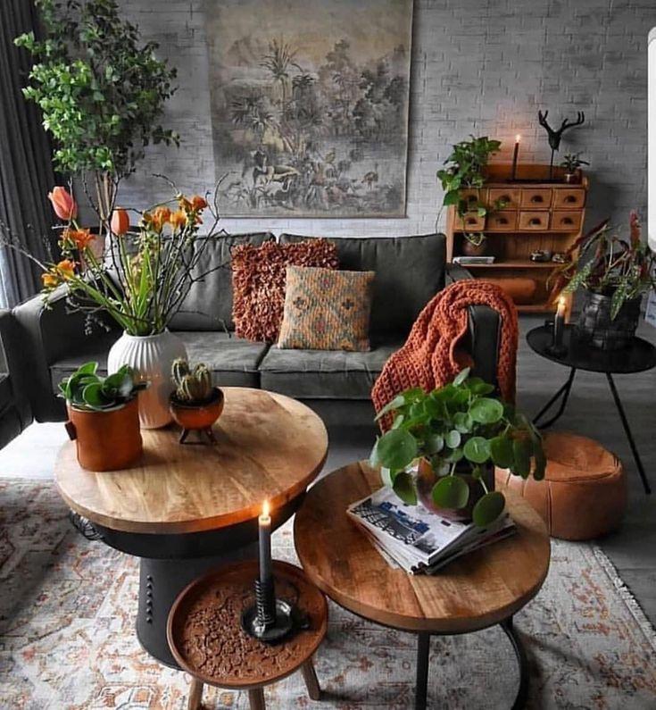 30 Charmantes Wohnzimmer-Design mit orangen Farbthemen – Eis – #Charming …