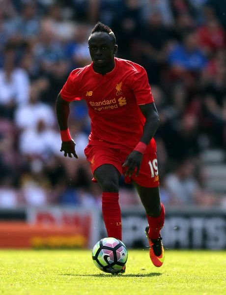 Sadio Mane of Liverpool during the Pre-Season Friendly match between Wigan Athletic and Liverpool at JJB Stadium on July 17, 2016 in Wigan, England.