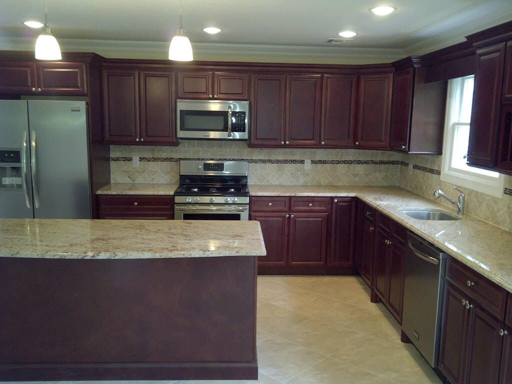 Cherry Glaze Cabinets By Kitchen Cabinet Kings Simple Kitchen Cabinets Cheap Kitchen Cabinets Online Kitchen Cabinets