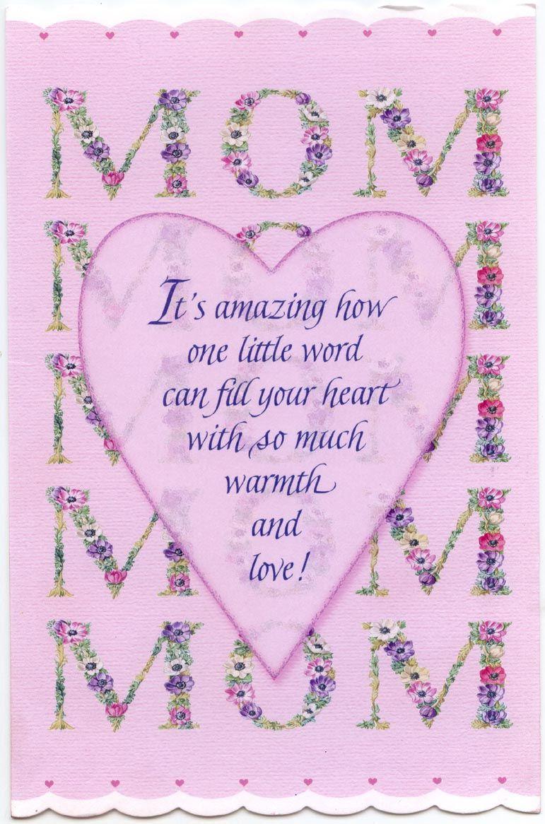 MOM BIRTHDAY CARD 2012 Birthday cards for mom, Birthday