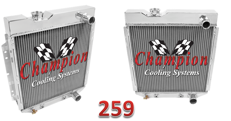 Cc259 For Ford Mustang Falcon Aluminum Radiator Ford Mustang