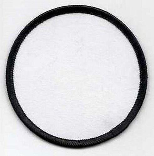 "BLANK Patch 3/"" WHITE Back /& Black Edge Heat Sealed Back MC Club Biker BLA-0011"