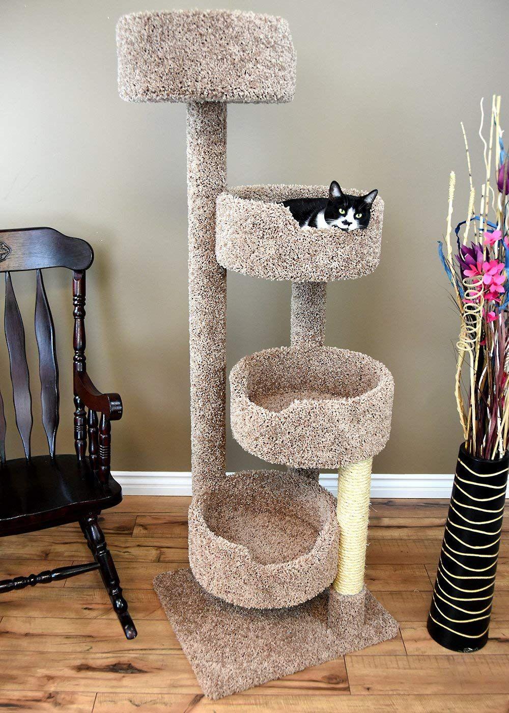 Cat Trees Carpet Covered Works Of Art Cosas Para Gatos