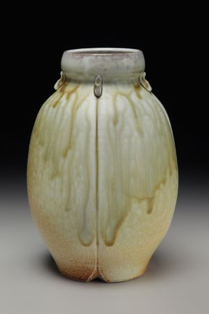David Voorhees // David Voorhees Pottery (Flat Rock, NC) Primarily self taught, David has spent years producing functional wares and decorative pots in electric and gas kilns. Following his fascination for surface variations revealed in atmospheric firings has led to the current body of work focusing on altered wheel-thrown stoneware and porcelain vessels. Visit his website for more information: http://www.davidvoorheespottery.com/index.html