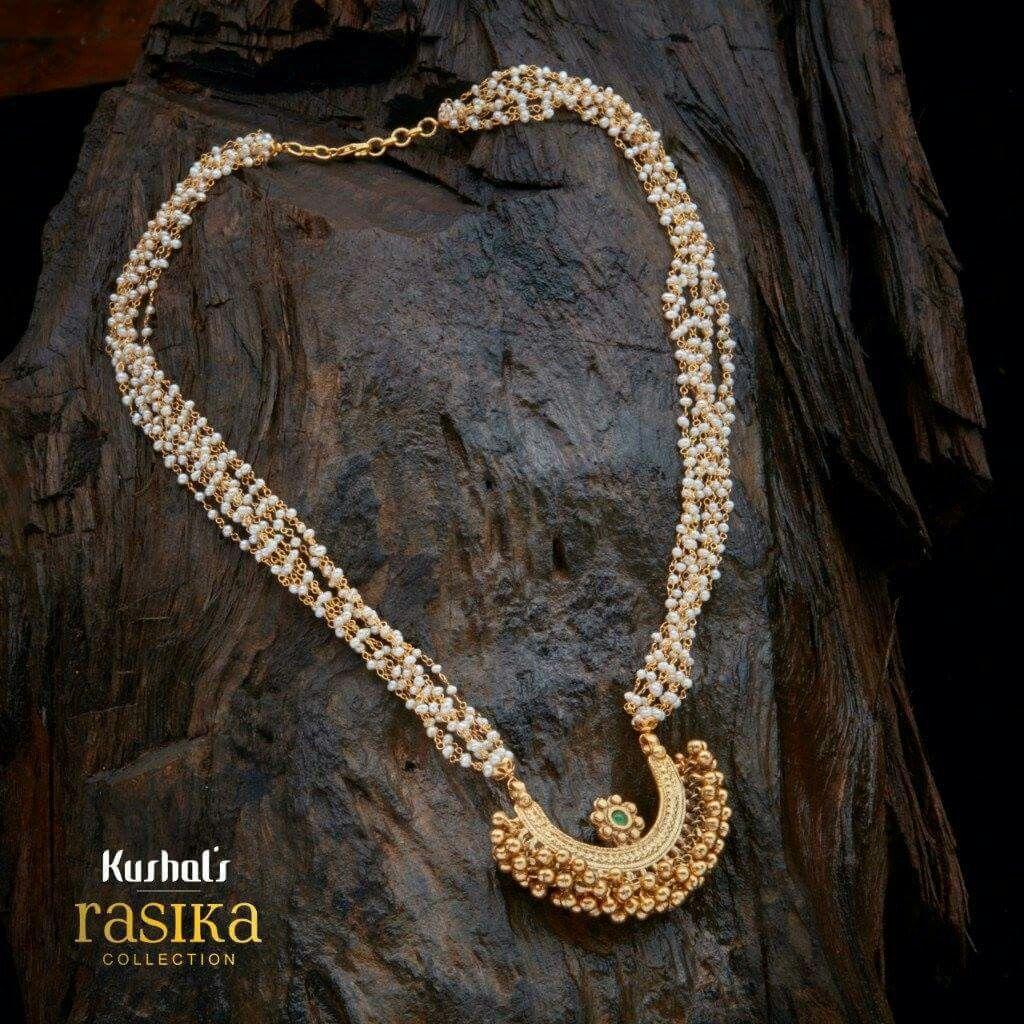 8f07fdc4aaa19 China Muthu malai with salangai inspired padhakkam | Jewellery ...