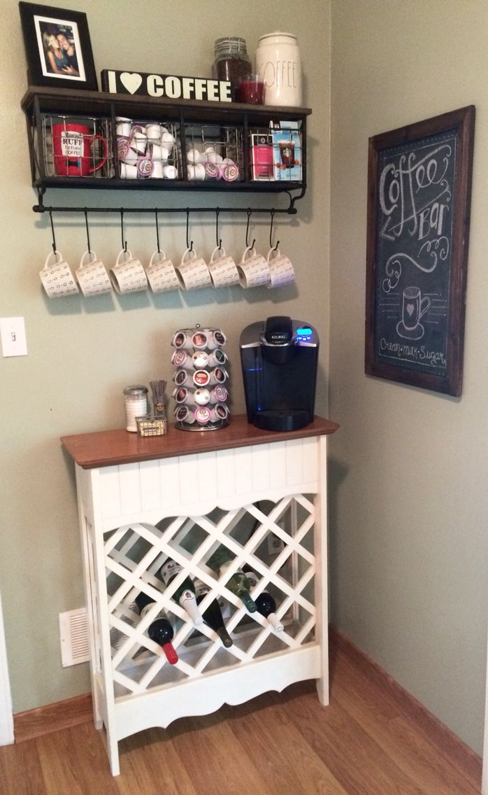 Coffee station coffee bar and wine rack for the home pinterest