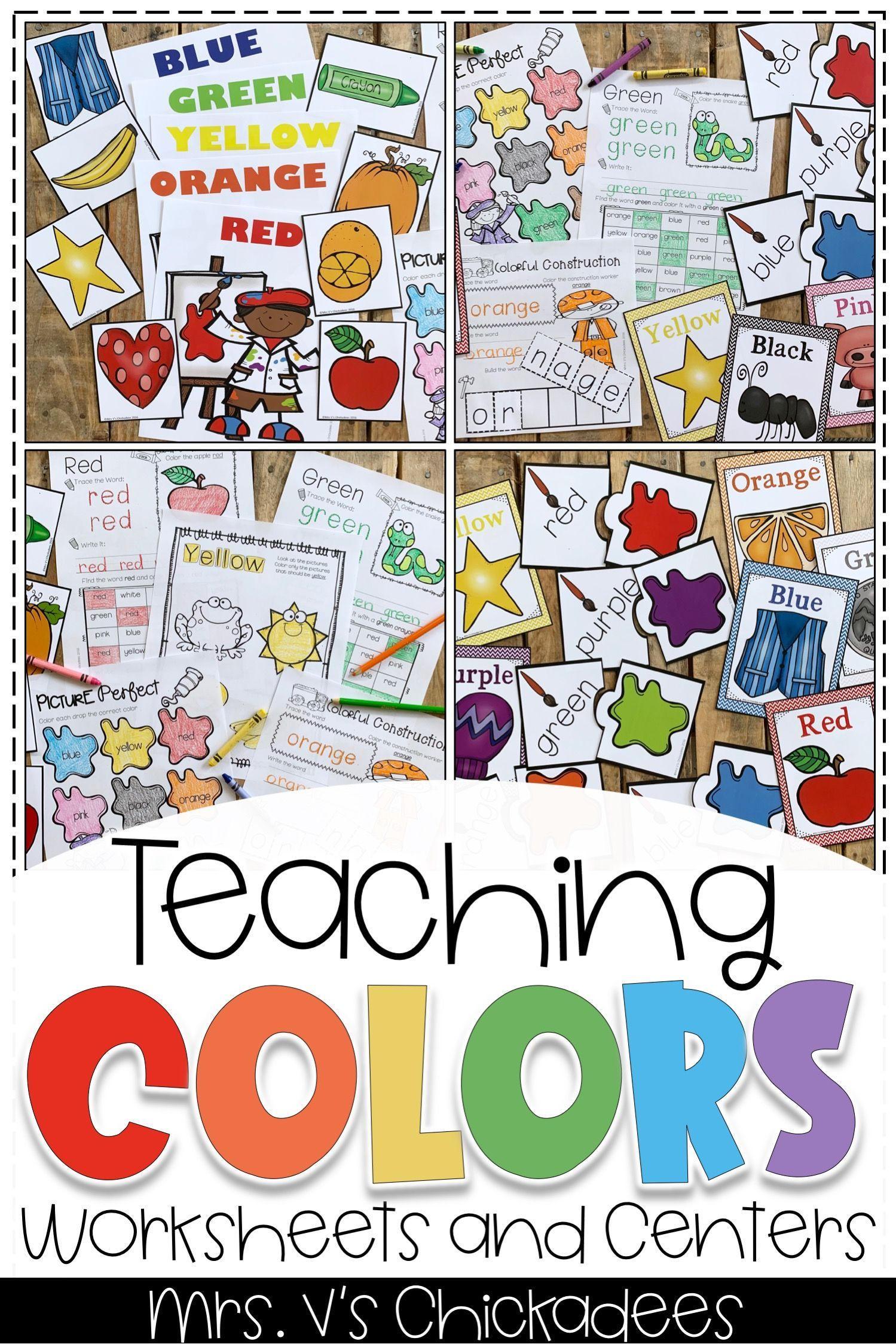 Teaching Colors Unit Worksheets And Color Centers