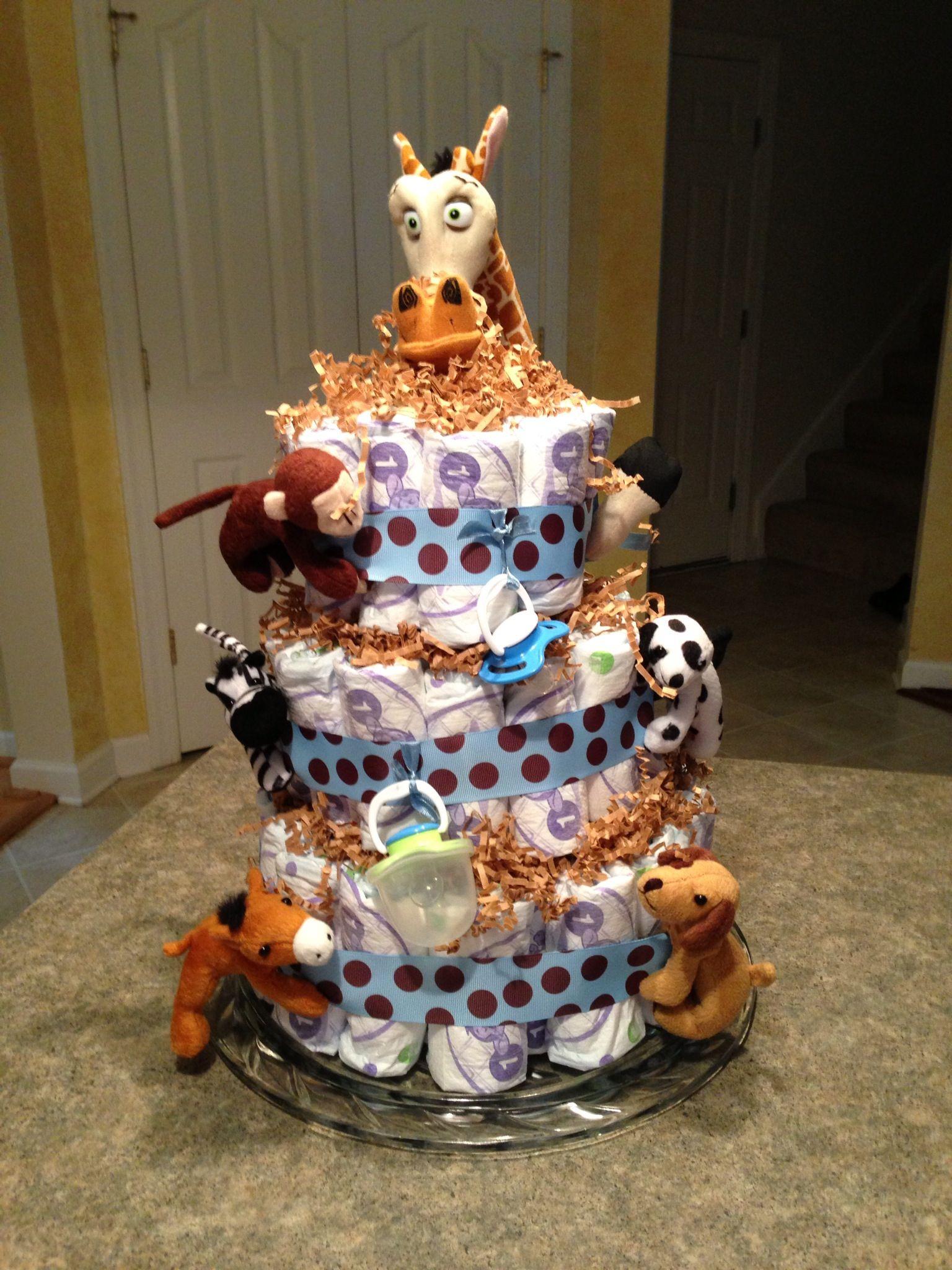 Baby boy diaper cake easy to do diaper cake boy baby