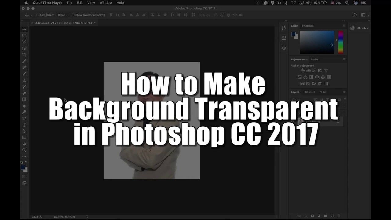 How to make background transparent in cc 2017