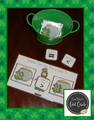 St. Patrick's Day Math Center - Comparing Numbers
