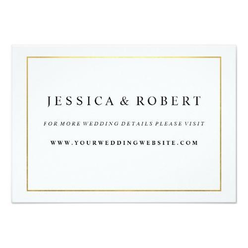 formal wedding invitation rsvp black white with gold wedding website insert card