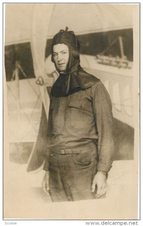 RP: San Antonio, Texas, Pilot William Kent at Kelly Field , 1910s