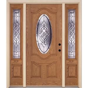 Feather River Doors Lakewood Zinc 3 4 Oval Lite Light Oak