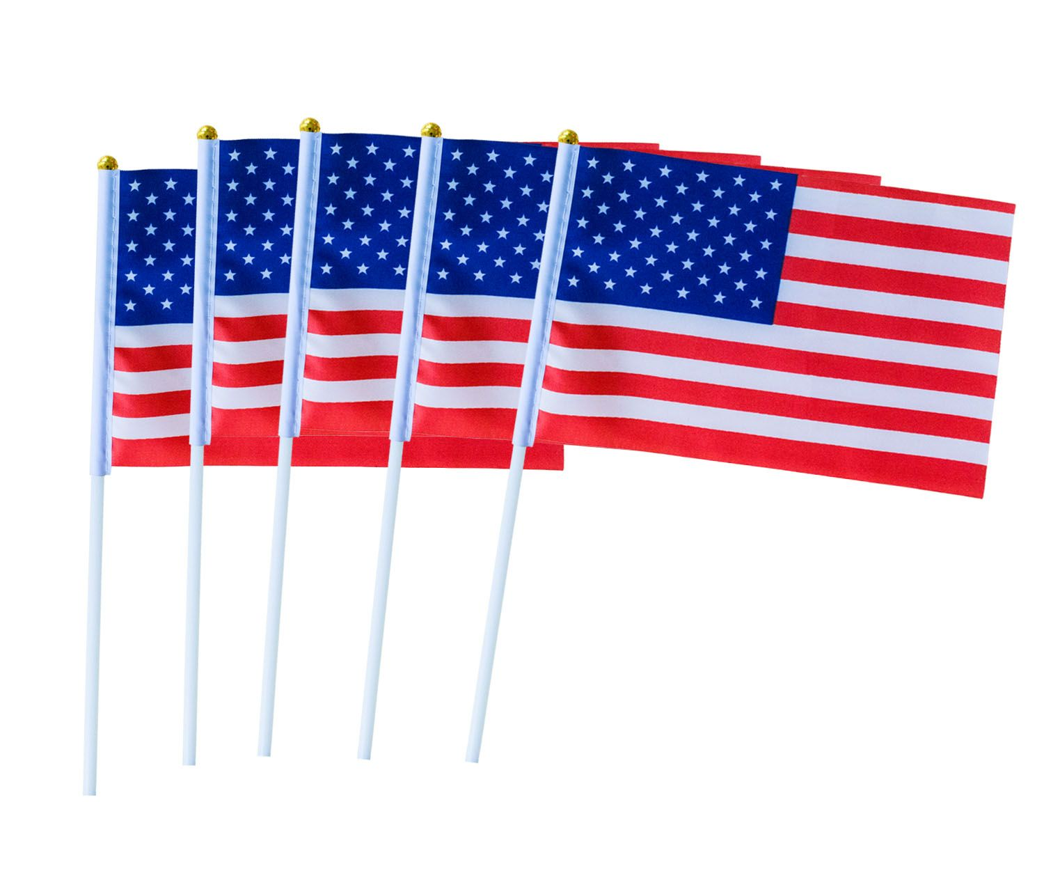 Usa Stick Flag 50 Pack Hand Held Small American Us Flags On Stick Flag Us Flags Party Decorations