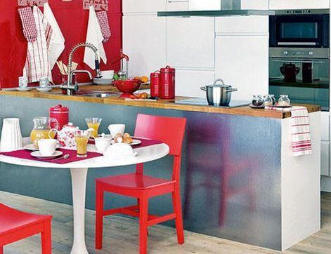 Diseño de Cocinas Pequeñas y Sencillas | Everything in Red ...