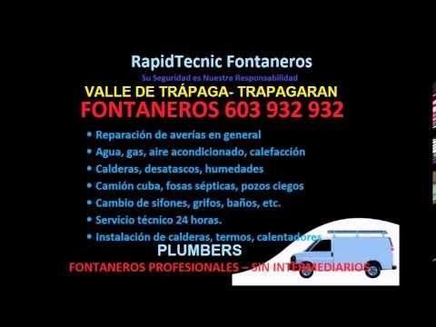 Fontaneros VALLE DE TRAPAGA TRAPAGARAN 603 932 932