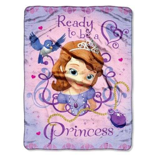 Sofia the First Raschel Throw Blanket - Ready to be a Princess Northwest,