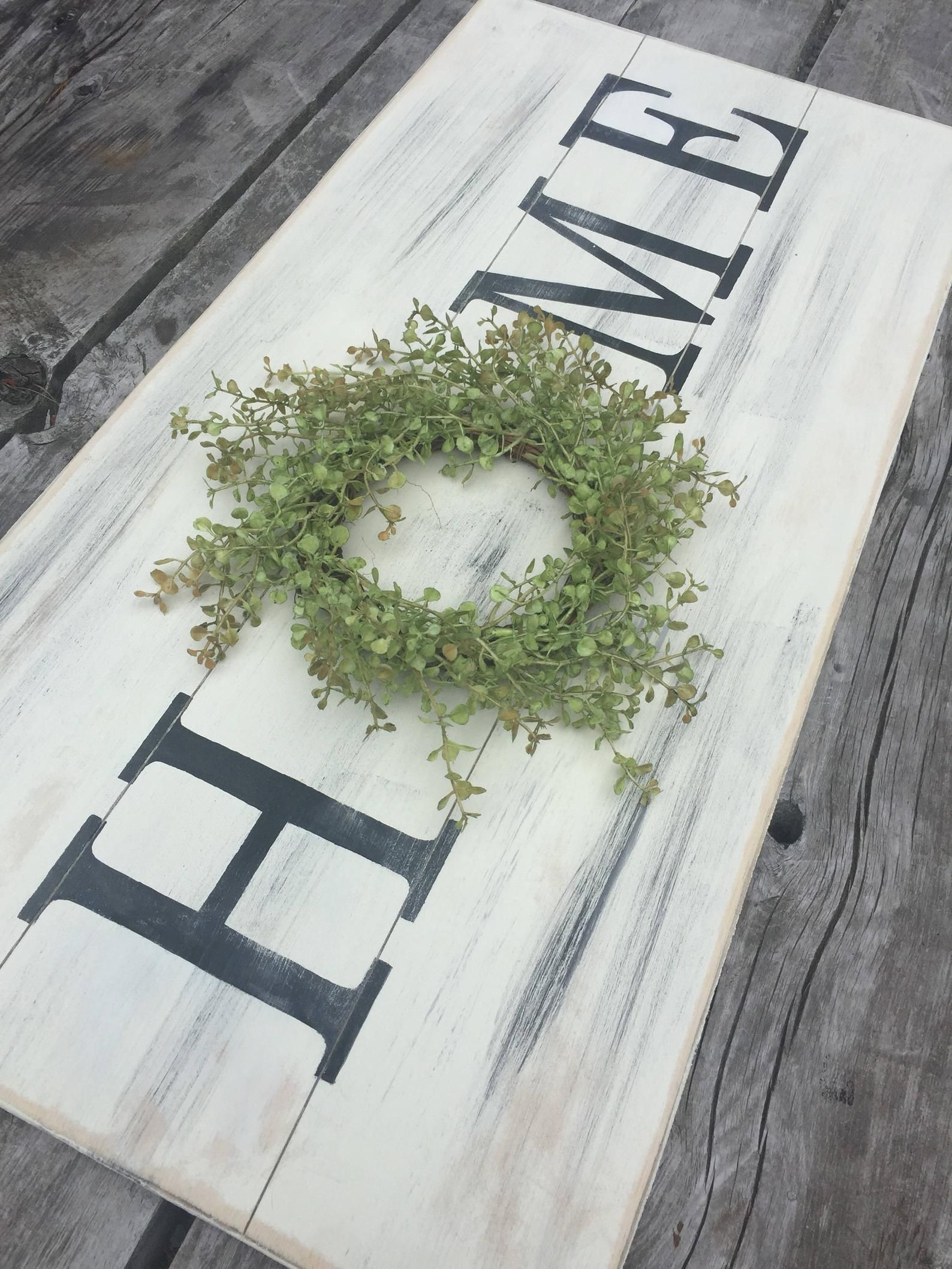 Large home sign with wreath, wooden sign, farmhouse sign, farmhouse wreath, pallet sign, rustic sign, fixer upper style, distressed sign is part of Large Home Sign With Wreath Wooden Sign Farmhouse Sign - 660965650 Thank you for supporting handmade and for visiting my corner of the internet  Please message me with any questions you may have    Abby