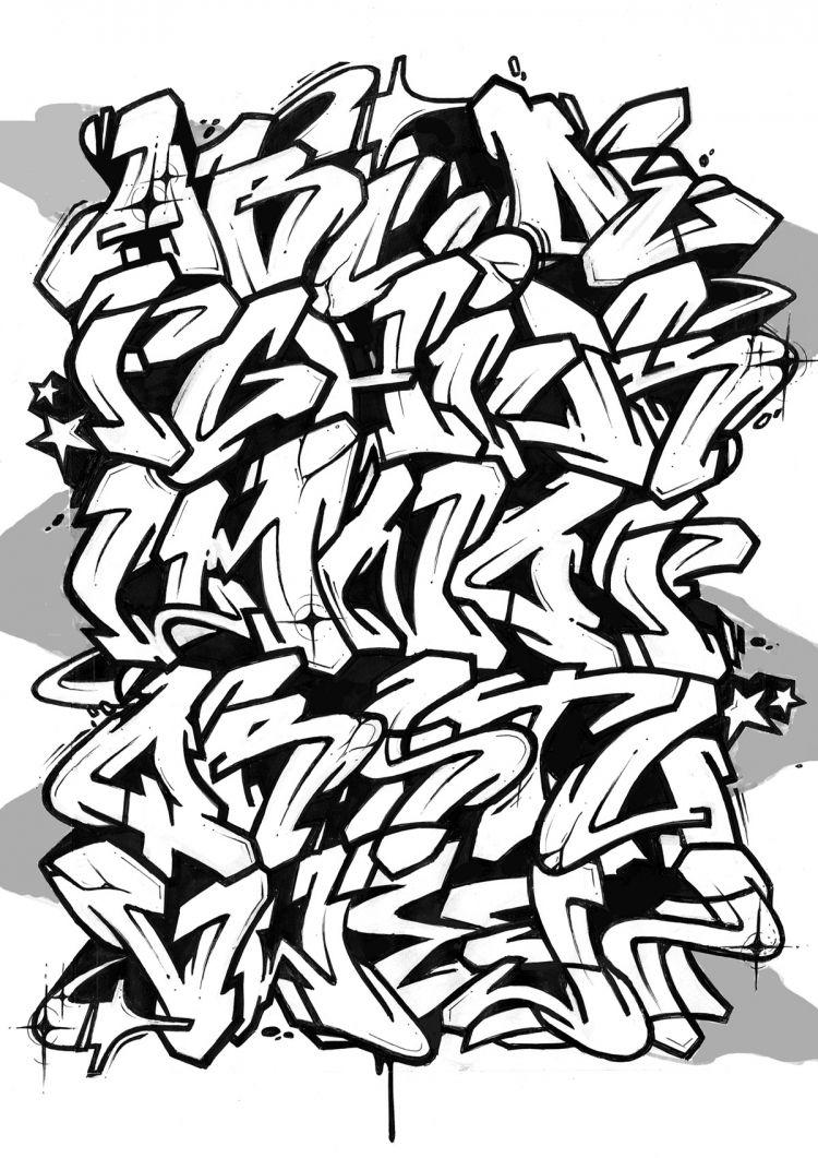 Graffiti alphabet block style google søgning