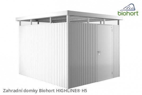 Biohort Zahradni Domek Highline H5 Stribrna Metaliza