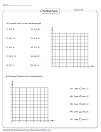 Ordered Pairs and Coordinate Plane Worksheets in 2020