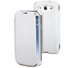 Capa Galaxy S3 Muvit - iFlip Folio Branca com Protector Ecrã  15,99 €