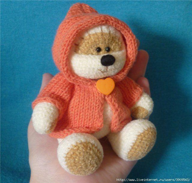 FREE Knitted Amigurumi Teddy Bear Knit Pattern (use google translate ...