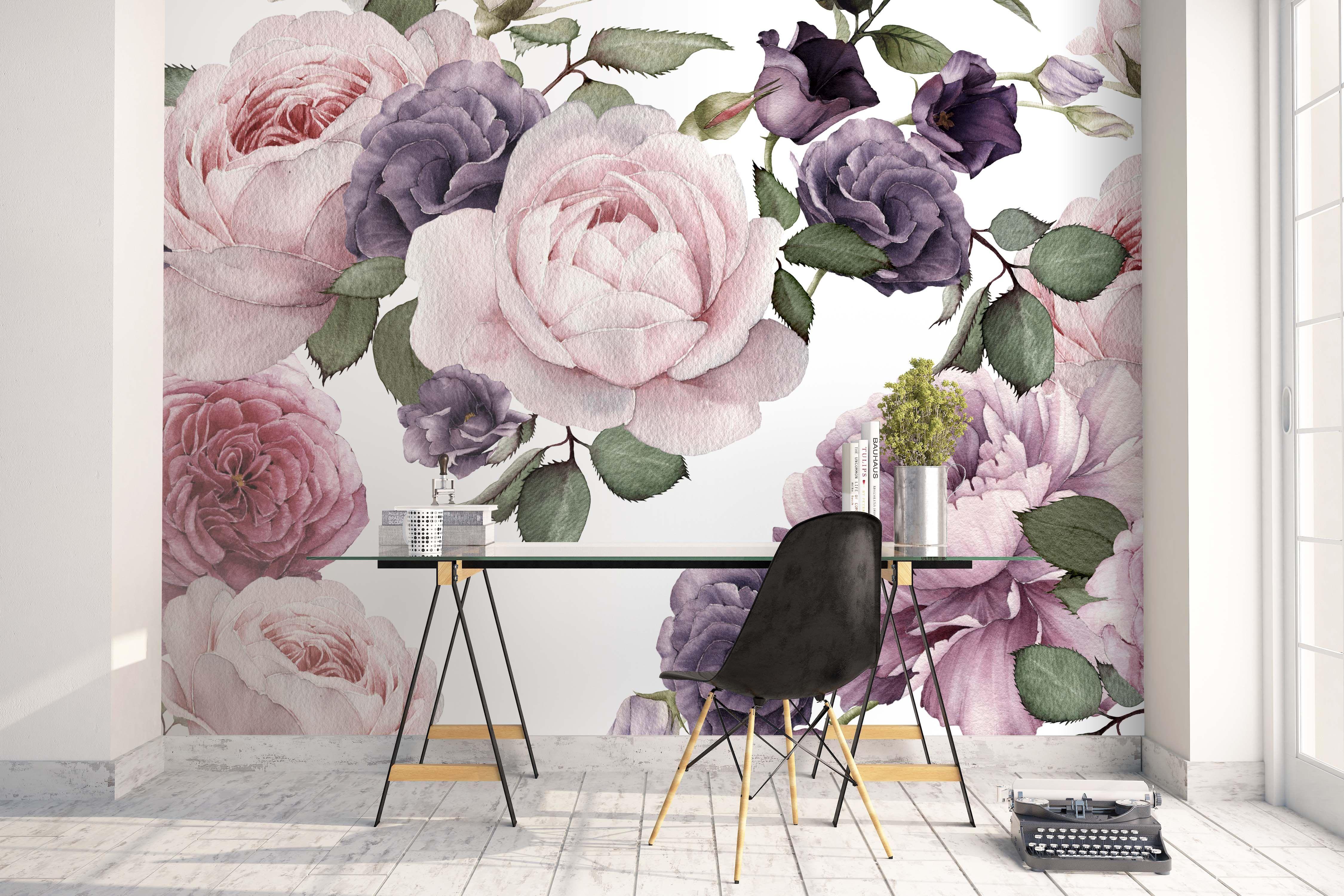Vintage floral wallpaper Floral wallpaper bedroom
