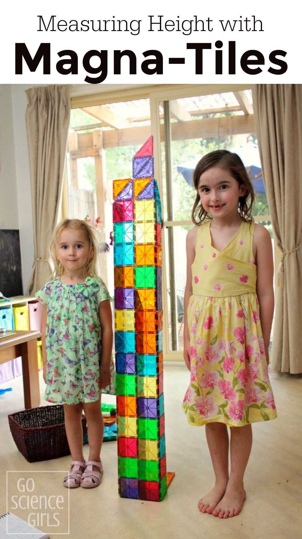 Measuring The Height Of Children By Building A Magna Tiles