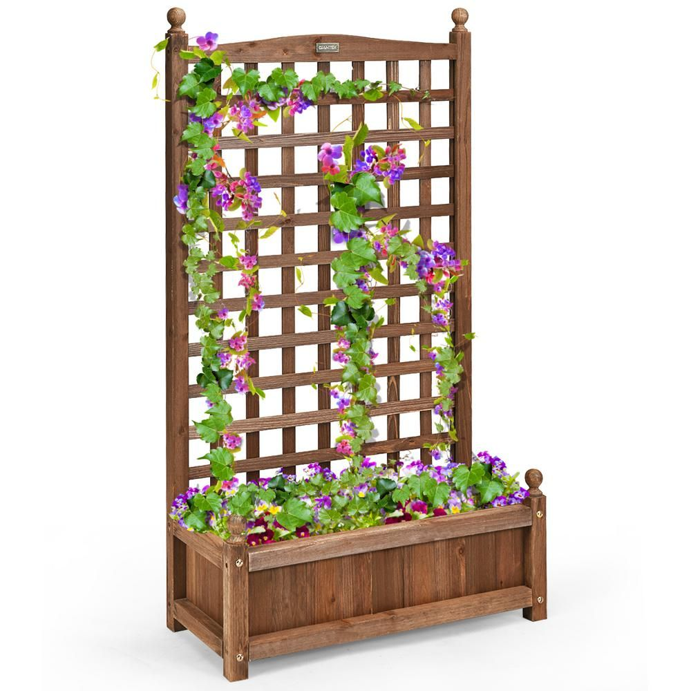 Macrocarpa Planter boxes, Seats & Trellis Patio fence