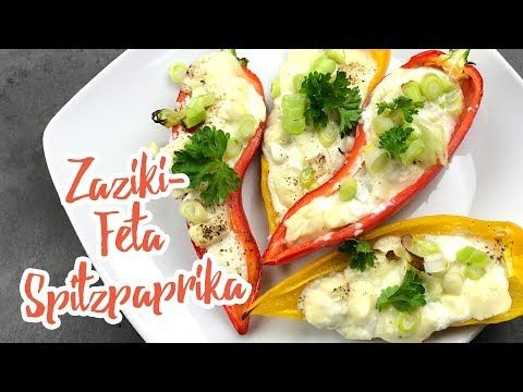 Zaziki-Feta Spitzpaprika - Essen ohne Kohlenhydrate
