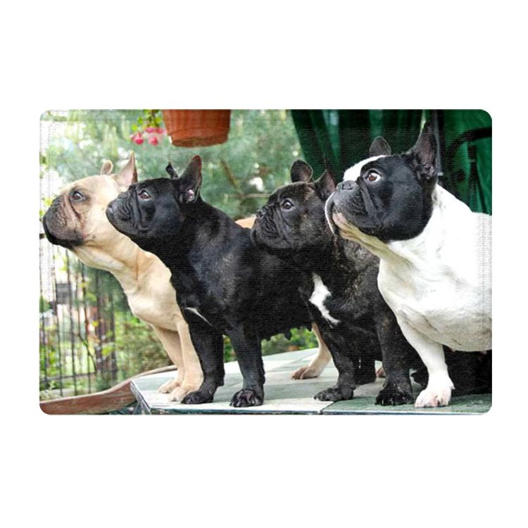 The Frenchie Salute French Bulldog Lovers Pet Decor 40x60cm