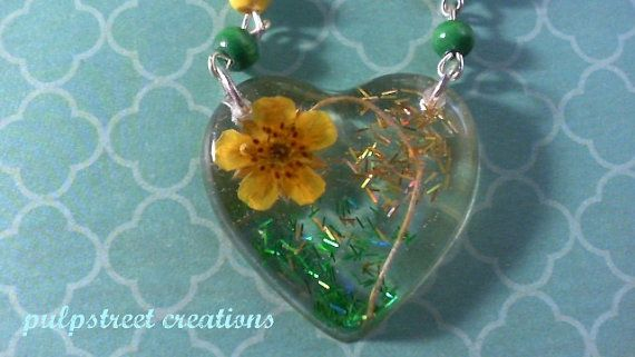 dried flowers design your own resin pendant made to order heritage