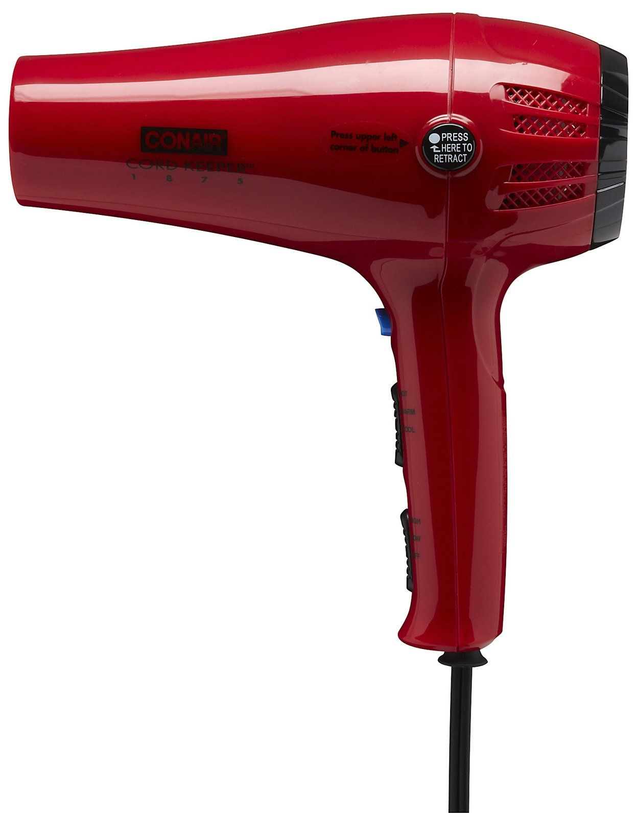 Conair Ionic Ceramic Cord Keeper Hairdryer Red Best Price Hair Dryer Tool Bench Ceramics