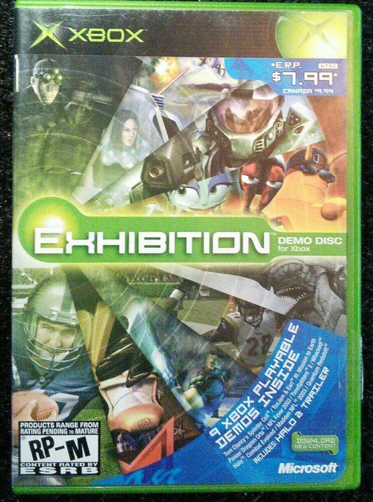 Exhibition Demo Disc Xbox Original Microsoft Complete Tested Rare Xboxone Playstation Videogames Videogaming Games Gamers Xbox Demo Game Retro Gaming
