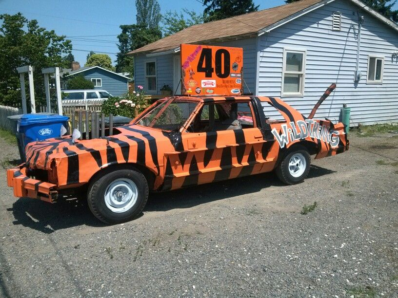 Kevin's demo derby car, July 4th. Good luck Kev