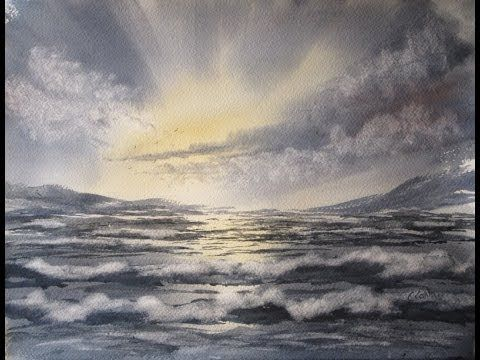 Quick And Simple Way To Paint Waves And The Sea In Watercolour