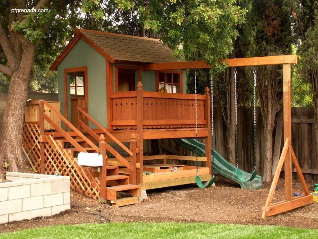 Resultado de imagem para casitas de madera para ninos for Kids outdoor playhouse
