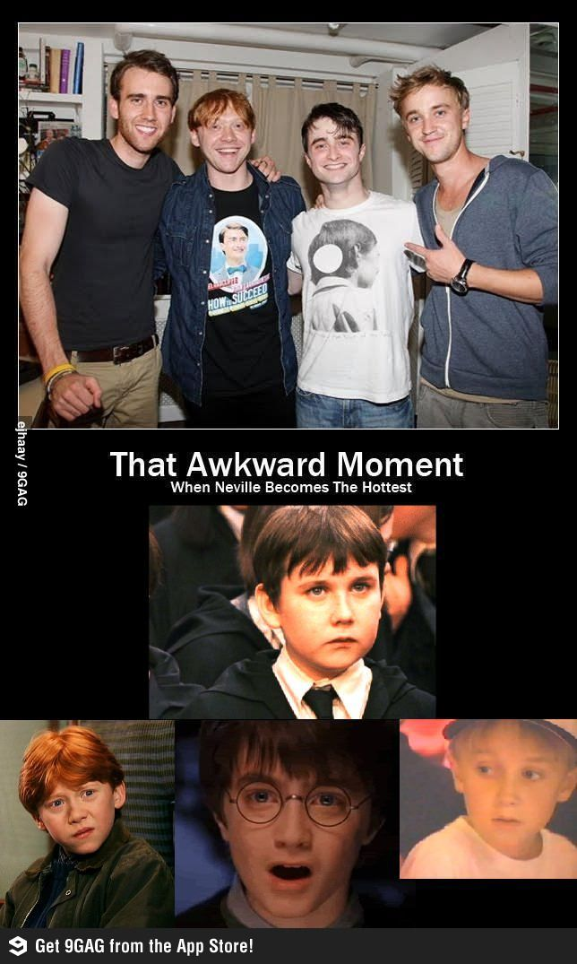 That Awkward Moment When Neville Becomes The Hottest Harry Potter Jokes Harry Potter Puns Harry Potter Pictures