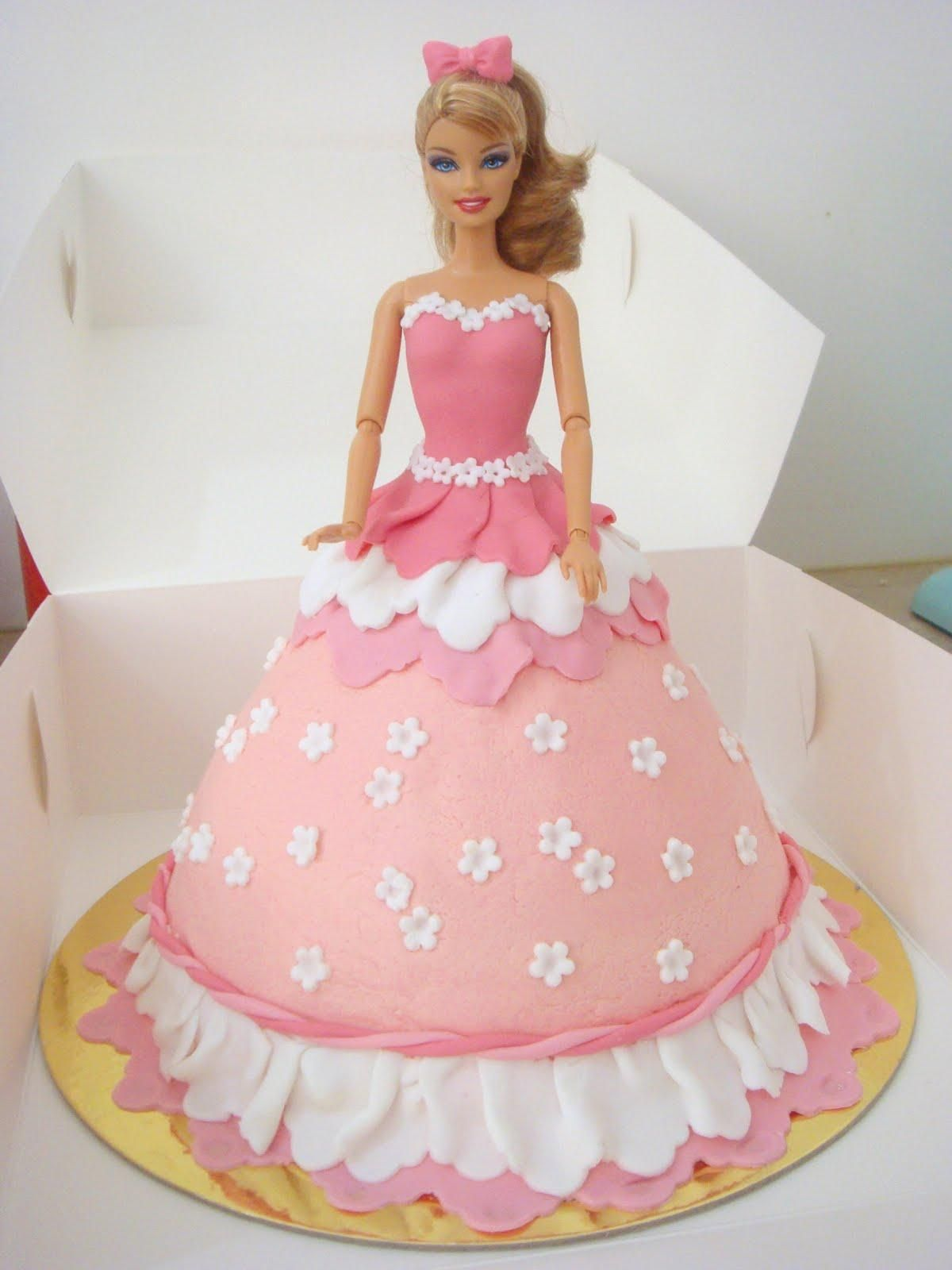 Barbie Doll Cake Birthday Cakes Online Yummycake