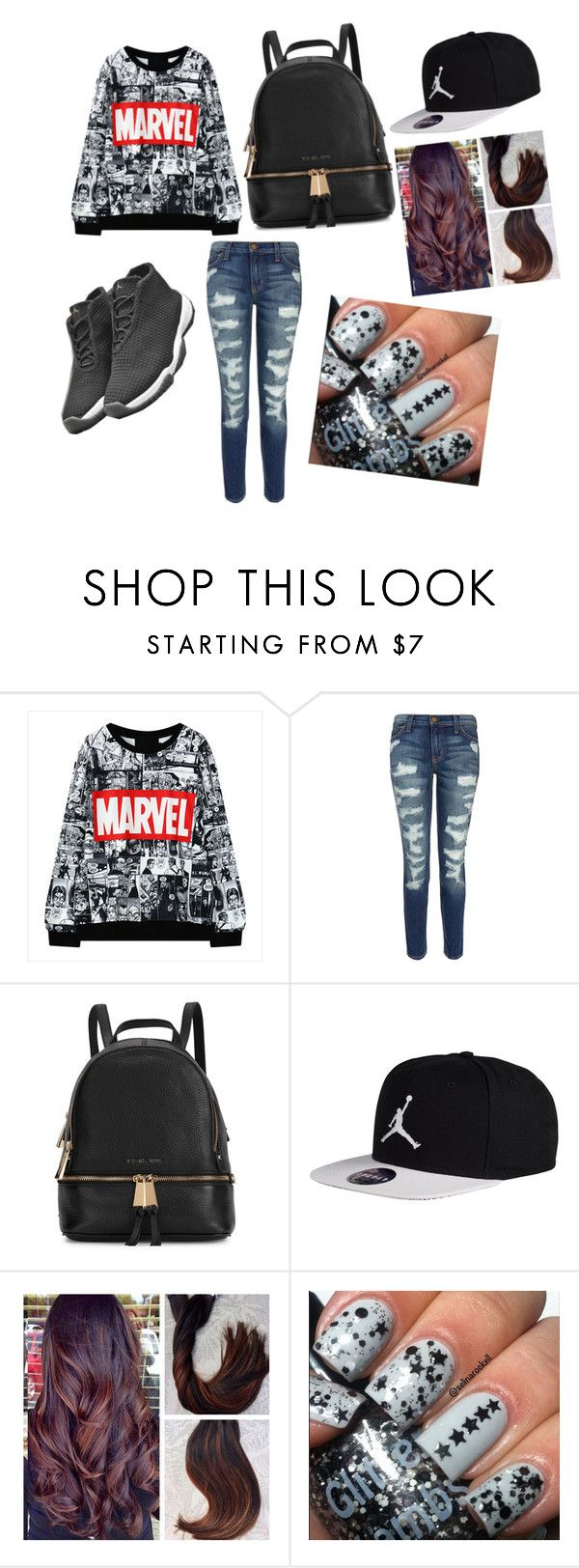 """geeky but cute"" by pinky-angel827 ❤ liked on Polyvore featuring Current/Elliott, Freaker, Michael Kors, women's clothing, women, female, woman, misses and juniors"