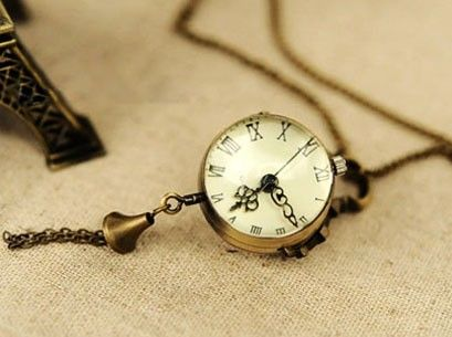 Vintage Fashion Pocket Watch Bell Necklace,looback.looback.com.jewelry,accessories,free shipping,