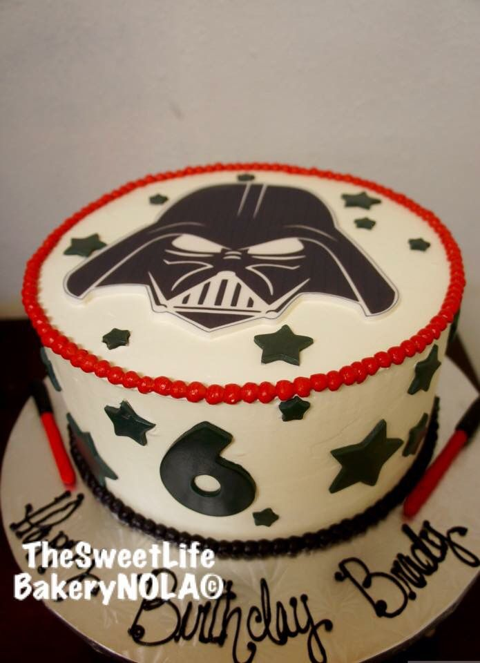 Star Wars themed birthday cake by The Sweet Life Bakery New Orleans