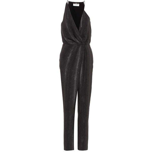 acefba48729 Saint Laurent Silk-Blend Jumpsuit (163.590 RUB) ❤ liked on Polyvore  featuring jumpsuits