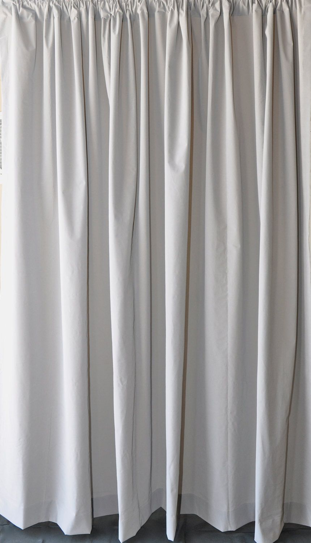 Solid Gray Velvet Fabric Curtain 96 inch High Long Panel Custom ...