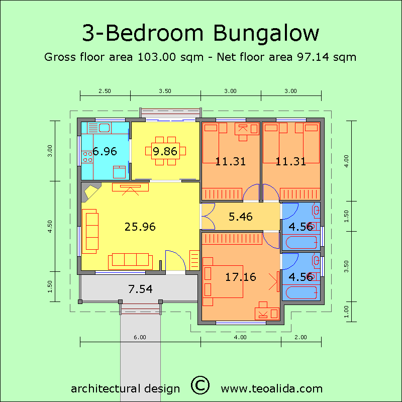 House Floor Plans 50 400 Sqm Designed By Me The World Of Teoalida House Floor Plans Bungalow House Floor Plans Floor Plans