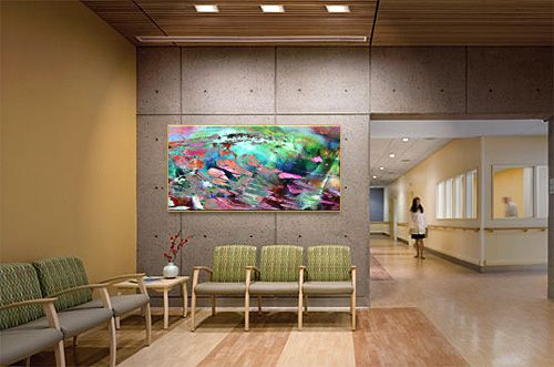 Abstract Art Canvas Print In Hospital