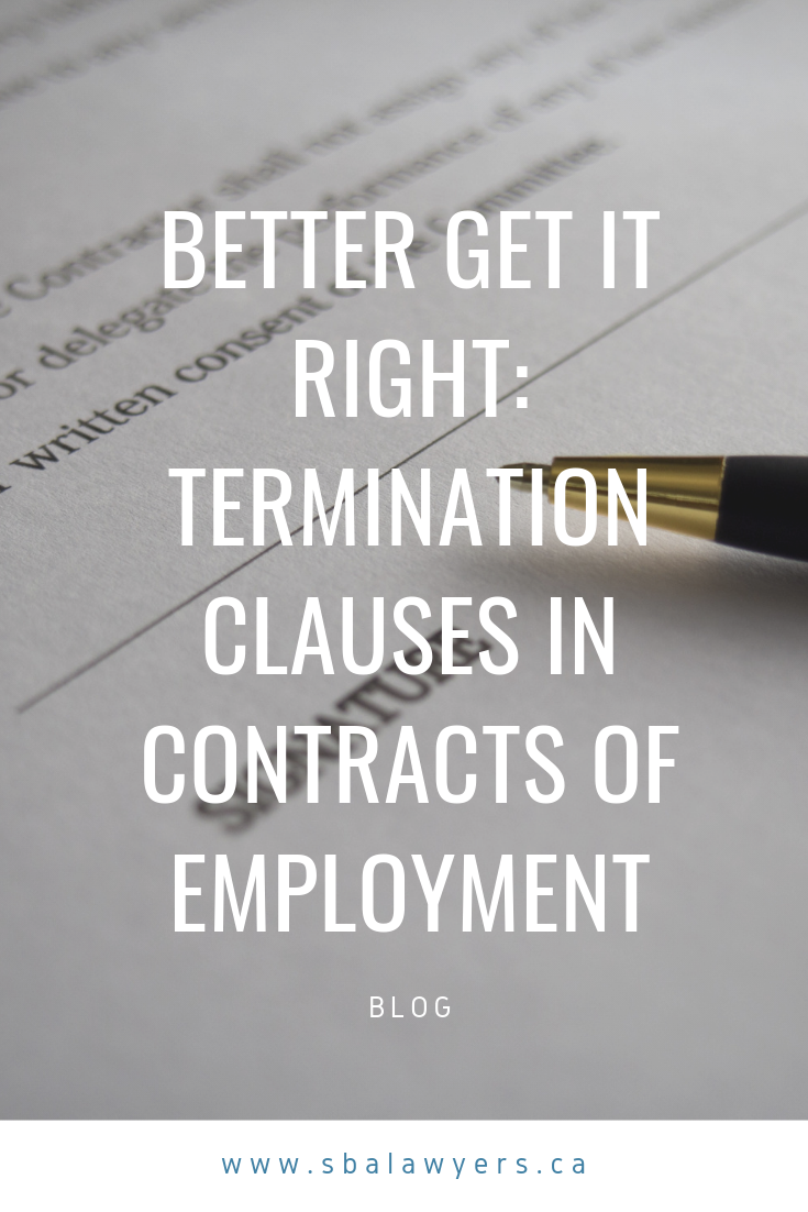 Better Get It Right Termination Clauses In Contracts Of